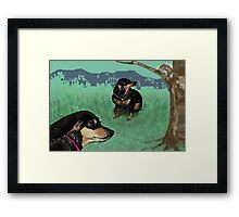 Winnie and Ding Framed Print