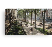 Broadway in Saratoga Springs, New York, ca 1915 (16:9 crop)  Canvas Print