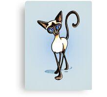 Siamese Crosswalk Boy Blue Canvas Print
