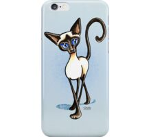 Siamese Crosswalk Boy Blue iPhone Case/Skin