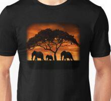Elephant Sunset Unisex T-Shirt