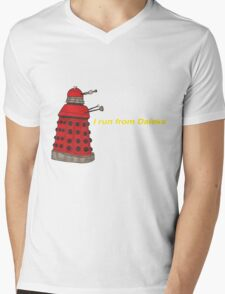 I run from Daleks Mens V-Neck T-Shirt