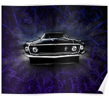 1969 FORD MUSTANG. Poster