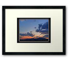 ©HCS Rainy Season Clouds Framed Print