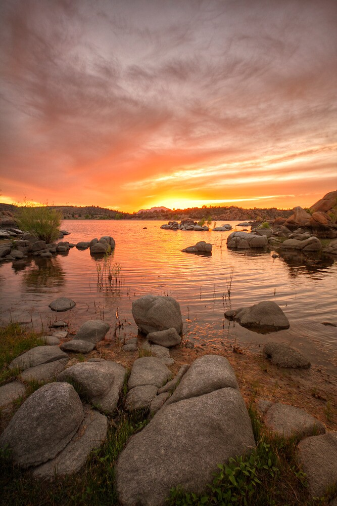 Sunset and Stones by Bob Larson