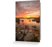 Sunset and Stones Greeting Card