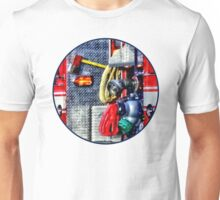 Fire Truck With Hoses and Ax Unisex T-Shirt