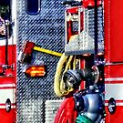Fire Truck With Hoses and Ax by Susan Savad