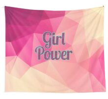 Geometric Girl Power Wall Tapestry