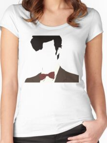 Faceless 11th Doctor Women's Fitted Scoop T-Shirt