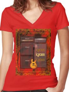 Kyuss - Blues For The Red Sun T-Shirt Women's Fitted V-Neck T-Shirt