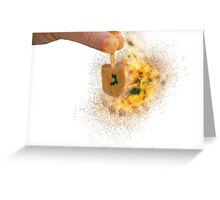 spinning Flaming Sevivon (or Dreidel) a spinning top  Greeting Card