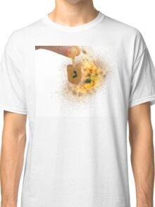 spinning Flaming Sevivon (or Dreidel) a spinning top  Classic T-Shirt