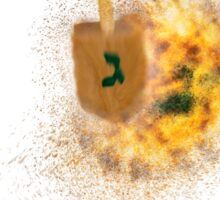 spinning Flaming Sevivon (or Dreidel) a spinning top  Sticker