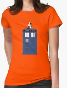Snoopy Doctor Who Womens Fitted T-Shirt