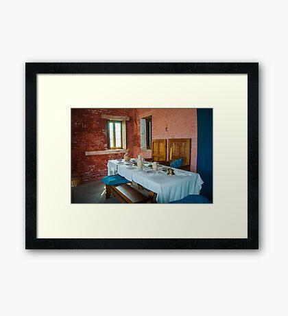 Dining table of the rich medieval shipowner - Walraversijde Framed Print