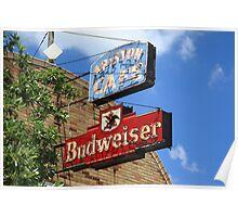Route 66 - Ariston Cafe Neon Poster