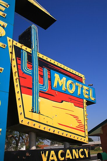 Route 66 - Western Motel by Frank Romeo