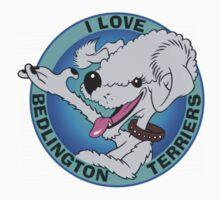 I LOVE BEDLINGTON TERRIERS (BLUE) B by DilettantO