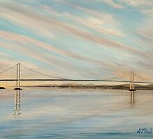 """The Forth Road Bridge"" (Image of an Oil Painting) by LBMcNicoll"