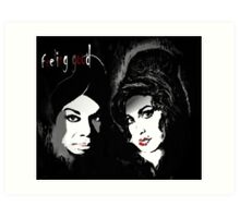 Nina & Amy Art Print