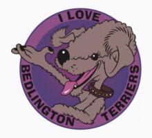 I LOVE BEDLINGTON TERRIERS (LIVER) P by DilettantO