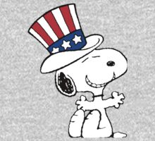 Snoopy Uncle Sam One Piece - Long Sleeve