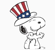 Snoopy Uncle Sam Baby Tee