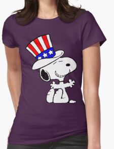 Snoopy Uncle Sam Womens Fitted T-Shirt
