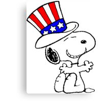 Snoopy Uncle Sam Canvas Print