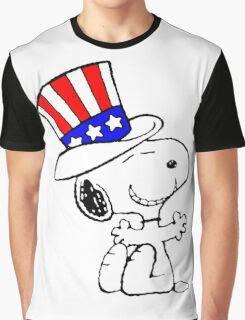 Snoopy Uncle Sam Graphic T-Shirt