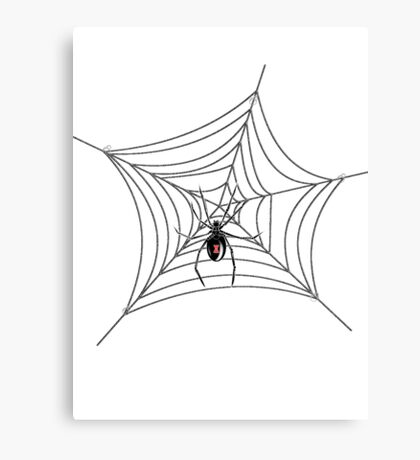 Black Widow w/o Text Canvas Print