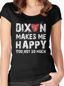 Dixon Makes Me Happy Women's Fitted Scoop T-Shirt