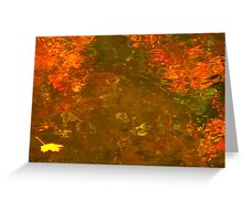 Mottled red waters Greeting Card