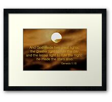 And God Made Two Great Lights Framed Print