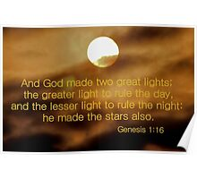 And God Made Two Great Lights Poster
