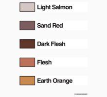 Brick Sorting Labels: Light Salmon,  Sand Red,  Dark Flesh,  Flesh,  Earth Orange by 9thDesignRgmt