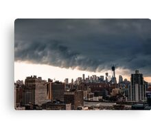 New York City Under Stormy Sky Canvas Print