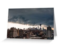 New York City Under Stormy Sky Greeting Card