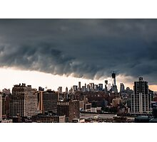 New York City Under Stormy Sky Photographic Print