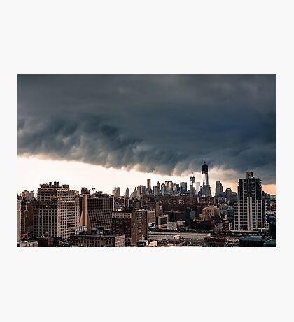 New York City Under Stormy Sky Photographic Print