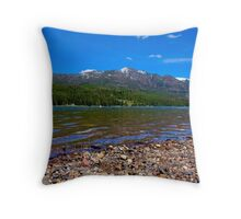 Waterline of Hyalite Throw Pillow