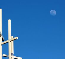 The Moon Over Grayson Bible Baptist Church by aprilann