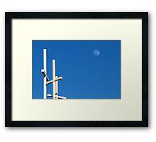 The Moon Over Grayson Bible Baptist Church Framed Print