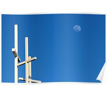 The Moon Over Grayson Bible Baptist Church Poster