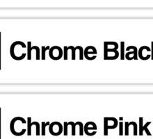 Brick Sorting Labels: Chrome Silver, Chrome Gold, Chrome Black, Chrome Pink, Chrome Blue Sticker