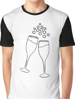 Champagne Toast Graphic T-Shirt