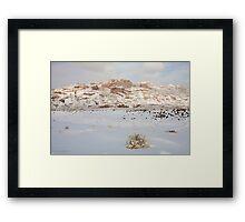Split Mountain Winter Light Framed Print