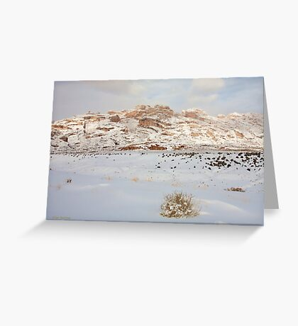 Split Mountain Winter Light Greeting Card