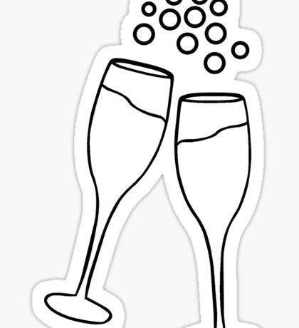 Champagne Toast Sticker